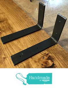"4""L x 4""H Bracket, Handcrafted Forged Rustic Reclaimed Salvaged Metal Steel Shelf Wall Brackets, Modern decorative bracket shelve Storage Strap Angle Corner iron from Csonka's Custom Rustics http://smile.amazon.com/dp/B01AF5S6GY/ref=hnd_sw_r_pi_dp_B2z8wb104FRX1 #handmadeatamazon"