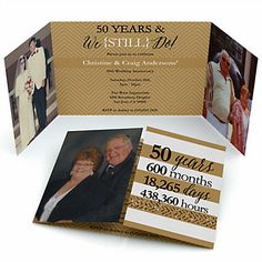 We Still Do - 50th Wedding Anniversary - Personalized Wedding Anniversary Photo Invitations | BigDotOfHappiness.com