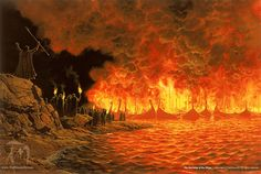 The Burning of the Ships - Ted Nasmith