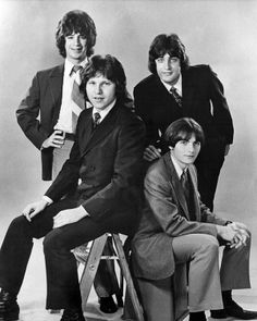 Eric, Wally, Jim and John! The original Raspberries member John Aleksic is pictured in this rare posed studio portrait of the new band when they started playing gigs in and around Cleveland, Ohio. Early 70's