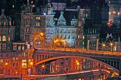 """Olde World Edinburgh City"" by Chris Clark.  Jon & I will be in Edinburgh in mid Feb., yea!"