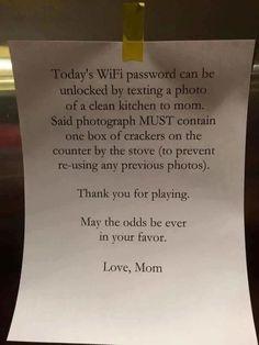 Cette maman a compris tous les avantages du WiFi et les utilise à ses fins pour que ses enfants participent aux tâches ménagères