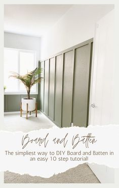 How To Install Simple Board and Batten - Sprucing Up Mamahood Bedroom Wall, Bedroom Decor, Board And Batten Siding, Wall Treatments, Home Projects, Diy Furniture, Bedroom Furniture, Home Remodeling, Decoration