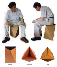name of design : Twister Origami-stool kit  design by : Hirohisa Ohta from japan