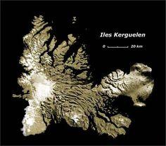 Iles kerguelen - Image satellite Spot