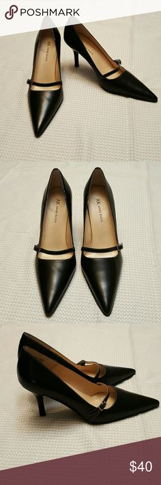 Anne Klein Heels Beautiful Leather  Really nice classy style with the pointy toe Very small scuffs on heels check pic 4 Great condition overall  3 inch heel Anne Klein Shoes Heels