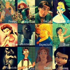 Hunger Games....Disney style? Haha:) Katniss' and Effies hair isn't that accurate. And what's happened with Cato?
