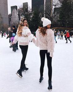 I forgot how much fun ice skating is ⛸❄️ with my girl @bridgethelene #nyc #centralpark #xmas #christmastime #besttimeoftheyear  by @aubzphotogz