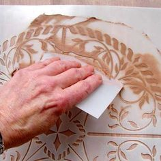 ART TECHNIQUE - Create Raised Designs on Just About Anything With Plaster Stencils