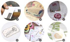 """24 DIY para hacer tus propias """"tarjetas de visita"""" en blog.cosasmolonas.com"""