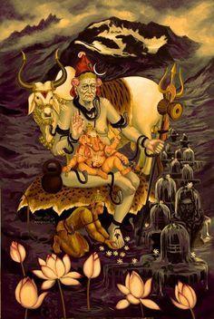 Rudra Shiva, Mahakal Shiva, Durga Painting, Lord Shiva Painting, Saraswati Goddess, Kali Goddess, Kali Hindu, Hindu Art, Angel Sketch