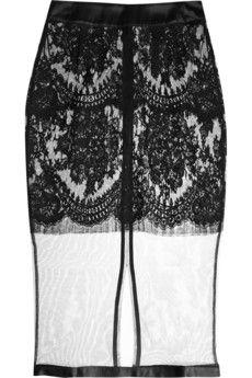 La Perla Freesia lace and tulle half slip  | NET-A-PORTER