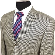 RALPH LAUREN Men's 40R Gray Houndstooth 3-Button Silk/Wool Sport Coat/Jacket | Men's Fashion & Style | Shop Menswear, Men's Clothes, Men's Apparel & Accessories at designerclothingf... | Find Sport Coats, Blazers, Suits, Shirts, Polos, Pants/Trousers and More... 10d