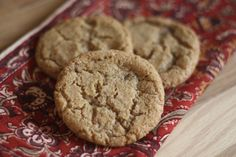 What happens when you have leftover Hot Buttered Rum mix in the refrigerator and you combine that with a craving for cookies? You wind up with rich toffee and spice flavors in a crisp and Epicure Recipes, Rum Recipes, Baking Recipes, Sweet Recipes, Dessert Recipes, Baking Ideas, Healthy Recipes, Cookie Desserts, Recipes