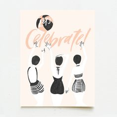 Let's Celebrate — Wink Wink Paper Co. Indie Singers, Job Promotion, Black Envelopes, Making Greeting Cards, Tapestry Weaving, Lets Celebrate, Papers Co, Colorful Interiors, House Warming