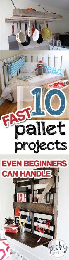 Looking for a list of pallet home decor tips and hacks? Check these 10 Fast Pallet Projects that Even Beginners Can Handle -