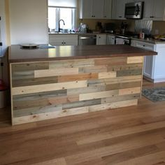 TimberChic 4 Reclaimed Wood Wall Paneling in Natural is part of Wood panel walls - Pallet wood Painting Wall Art TimberChic 4 Reclaimed Wood Wall Paneling in Natural Decor, Wood Panel Walls, Interior, Kitchen Remodel, Kitchen Decor, Home Decor, Interior Remodel, Wall Paneling, Kitchen Design
