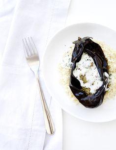 Roasted Eggplant With Tzatziki