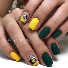 50 hottest natural and lovely short square nails for spring nails 2020 - Acrylic short square nails, natural short square nails , pretty short nails, Short square nails des - Green Nail Designs, Colorful Nail Designs, Manicure Nail Designs, Nail Manicure, Nails Design, Short Square Nails, Short Nails, Yellow Nails, Green Nails