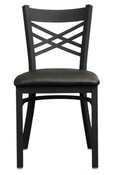 Restaurant Chair 1 Dozen x Back Black Metal Wholesale Black Economy Vinyl Seat | eBay.  12 for $384