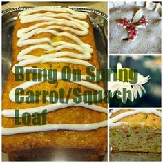 Bring On Spring Carrot/Squash Bread! (With just a hint of Lemon!)