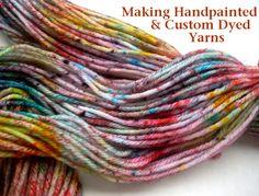 Dyed Yarn DIY from Chalk Legs- Great technique for our Acid Dyes!Sprinkle Dyed Yarn DIY from Chalk Legs- Great technique for our Acid Dyes! Diy Tricot Crochet, Crochet Yarn, Knitting Yarn, Spinning Wool, Yarn Inspiration, Art Textile, Wool Yarn, Felted Wool, How To Dye Fabric