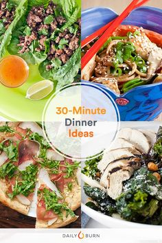 Meals for Quick, Healthy Dinner Ideas Don't have the time or patience to cook tonight? These easy meals are healthier than takeout—and taste better, too. Get 30 new dinner ideas here! Lunch Recipes, Healthy Dinner Recipes, Real Food Recipes, Cooking Recipes, Healthy Meals, Lamb Recipes, Cooking Hacks, Meal Recipes, Sausage Recipes