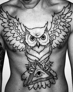 Owl tattoo All seeing eye Mason