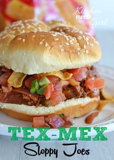 Tex-Mex Sloppy Joes at www.kitchenmeetsgirl.com - if you like bacon, jalapenos, and the smoky flavors of chili powder, cumin and coriander, ...