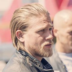 Jax Teller Haircut - Long Slicked Back Hair