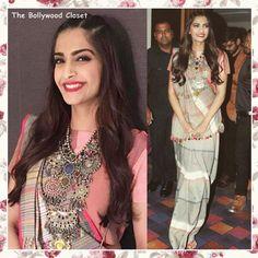 In Gaurang Shah saree & Karan Johar for Gehna necklace Pakistani Dresses, Indian Dresses, Indian Outfits, Designer Blouse Patterns, Blouse Designs, Indian Attire, Indian Wear, Saree Hairstyles, Stylish Sarees