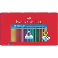 FABER CASTELL Hexagonal Buntstifte CASTLE 36er Metalletui