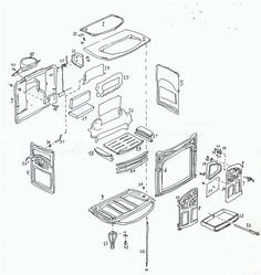 Exploded Diagram for Vermont Castings Intrepid 1 stove