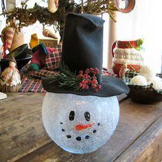 Modge Podge + Glitter snowman