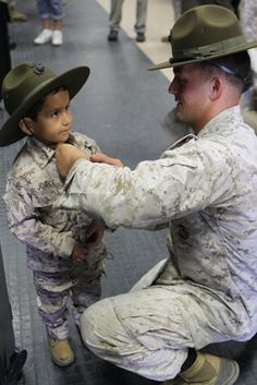 Make-A-Wish Foundation (Children's Charity)... Five year old Jorge wished to be a Marine for a day... Camp Pendleton, California...