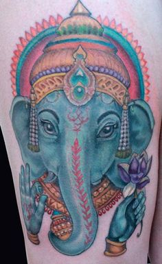 ganesha tattoo blue - Google Search