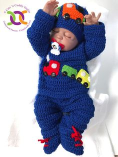 Best 12 Cutencuddlyoutfits is proud to present baby boys Choo Choo Set , that will leave you in awe. Your little prince will look his cutest in this Baby Boy Suit . This adorable baby Boy clothing set is handmade/ hand crocheted in very soft baby DK a Baby Bunny Costume, Baby Pumpkin Costume, Baby Bunny Outfit, Baby Easter Outfit, Baby Costumes, Baby Dress, Baby Boy Suit, Baby Boys, Knitted Baby Clothes