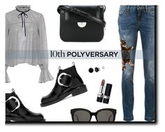 """""""Celebrate Our 10th Polyversary!"""" by rasa-j ❤ liked on Polyvore featuring Dolce&Gabbana, Maison Margiela, Gentle Monster, Christian Dior, Saloni, polyversary and contestentry"""