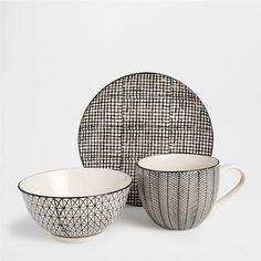 PORCELAIN STRIPED BREAKFAST SET - Dinnerware - Tableware   Zara Home United States