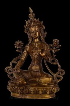 Green Tara Tibetan Hindu Nepal BRONZE Sculpture STATUE Item No. She epitomizes the influence of the older mother-goddess cults upon the Buddhist Mahayana religion. Buddha Art, Buddha Statues, Green Tara, Mother Goddess, Tibetan Buddhism, Guanyin, Ocean Art, Bronze Sculpture, Hindus