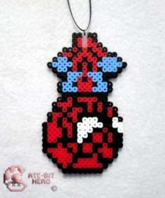 Marvel Hangin Spiderman Necklace Bead Sprite Perler Art