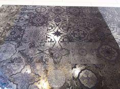 Moroccan Tiles Antique Mirror Glass Splashback. Antique Mirror Splashback, Antique Mirror Tiles, Mirror Backsplash, Beach House Kitchens, Moroccan Tiles, New Homes, Extension Ideas, White Kitchens, Mirror Ideas