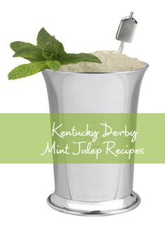 Mint Julep Recipes for your Kentucky Derby Party - Traditional, Non-Alcoholic, REALLY Quick, and Mint Julep Sorbet plus Party Invitations, Checklist and Ideas from TheInvitationShop.com