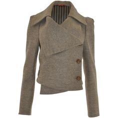 Beige Three Button Felt Jacket, Red Label by Vivienne Westwood