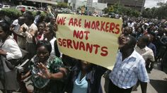 Zimbabwean Civil Servants Stage Sit-in Protest Over Bonuses - http://zimbabwe-consolidated-news.com/2017/03/06/zimbabwean-civil-servants-stage-sit-in-protest-over-bonuses-2/