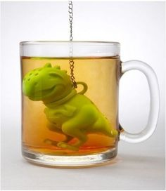 """Tea-rex!"" Gimme gimme gimme gimme gimme! Of course your would need to buy a clear cup for it to be as cool."