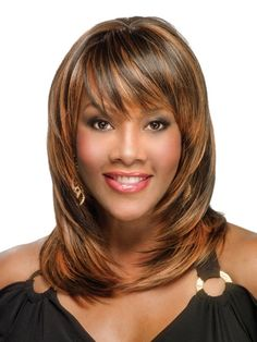 Medium Length Hairstyle for African Americans