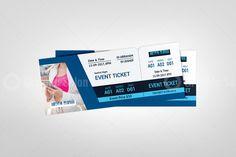 Event Ticket Template, Postcard Template, Flyer Template, Event Tickets, Graphic Design Templates, Print Templates, Ticket Design, Corporate Flyer, Event Organization