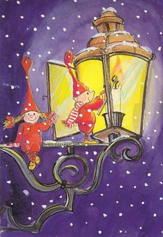 Postcrossing postcard from Finland Christmas Illustration, Cute Illustration, Baumgarten, Christmas Tale, Creation Photo, Christmas Lanterns, Light My Fire, Gnome, Christmas Clipart