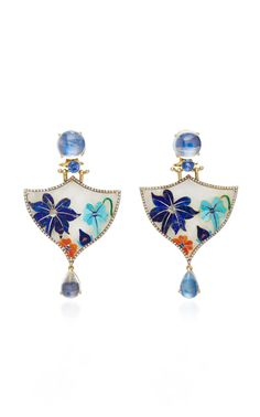 India Collection  Inlay Earrings  by SILVIA FURMANOVICH. Really pretty.